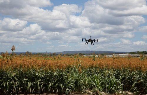 surveillance drone for farm equipment